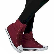 Scarpe Donna 40 ROSSO ginnastica sportive sneakers Tacco alto zeppa interna