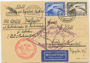 Deutsches Reich Zeppelin Postkarte Südamerikafahrt 1930 Stuttgart
