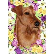 Easter House Flag - Irish Terrier 33220