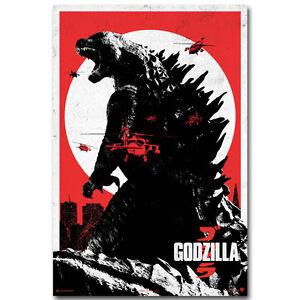 Godzilla Movie Silk Poster 12x18 24x36 inch