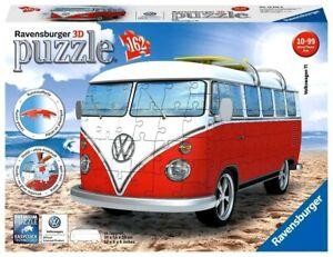 RAVENSBURGER. 3D PUZZLE. Volkswagen T1 Bus. 162 PCS. ITEM NR. 12516 NEW