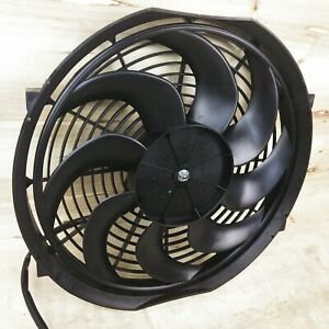 "12"" Inch 1248 fCFM High Performance Electric Radiator Engine Cooling Fan Hot Rod"