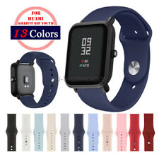 Soft Silicon Sports Wrist Band Strap For Xiaomi Amazfit Bip Youth Watchband 20mm