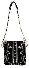 Christian Audigier Cross Body Handbag Panthera Cavalier (Black)
