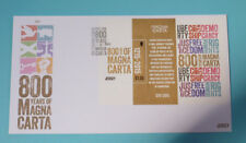 2015 JERSEY MAGNA CARTA STAMP MINI SHEET FDC FIRST DAY COVER