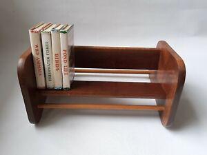 Vintage Mid-century Modern Wooden Desk Table Top Book Shelf Trough