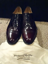 Johnston and Murphy Aldrich 2 Cap Toe oxford burgundy 8 1/2, Very Good Condition