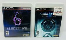 Sony PS3 Playstation 3 Resident Evil 6 & Revelations Lot of 2 Work Great