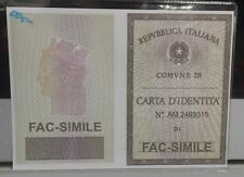 CUSTODIA CARTA D´IDENTITÀ SEE-THROUGH ITALIAN ID CARD HOLDER NEW PAYPAL PAYMENT