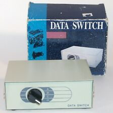 Vintage Data Transfer Switch Box 4 Position Switch 8 Pin Mini Din Female