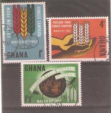 1963 Ghana-Freedom from Hunger-SG 300/302 utilisé