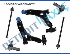 NEW 6pc Front Suspension Control Arm + Tie Rod Kit for Ford Focus BEFORE 4/4/04