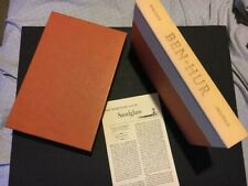 Ben Hur With Slip Case Heritage Press w/Sand Glass Lewis Wallace