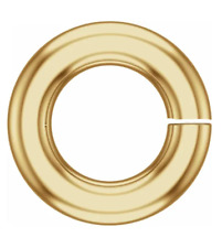 6mm SOLID 14k Yellow Gold 16ga gauge OPEN Heavy Thick Jump Ring Spacer Roundel