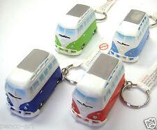 Set of 4 VW Volkswagen camper van key fob ring red, green, Dk. blue & Light blue