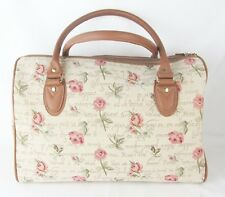 Rose Flower design Large Tapestry Barrel Bag - Handbag Signare