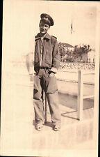 FOTO MILITARE REGIA AERONAUTICA A PONTECAGNANO SALERNO 1944 PILOTA C5-545