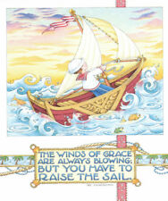 Winds Of Grace Sailboat-Handcrafted Fridge Magnet-Using art by Mary Engelbreit