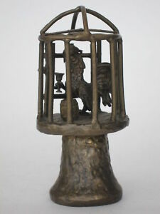 """Handmade Bell """"Rooster in a cage"""""""
