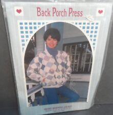 1990 Heart Warming  Patchwork Coat Pattern Sizes 8-22 UNCUT FF