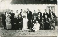 Peinlicher Hochzeitsgast, Original-Fotografie, um 1920