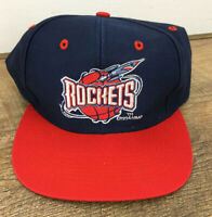 Vtg Houston Rockets 90's Old Logo 7 1994 Snapback Hat Cap NBA Retro I