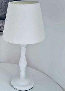 Small White Wooden Lamp / Table / Bedside Lamp, ideal for Children's Bedroom