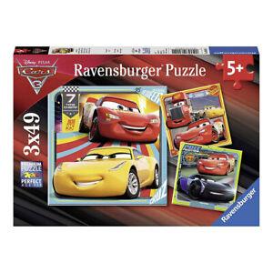 Ravensburger Disney Pixar Cars 3 3 x 49pc Jigsaw Puzzles NEW