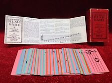Vintage1936 Dewhirst Music Game Flash Cards Willis Company Complete Set Antique