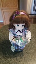 """12""""  PRECIOUS MOMENTS Doll - February  """"Violet"""" - 1995 Garden of Friends #1426"""
