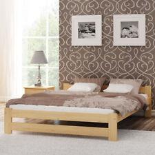 Holzbett Lattenrost Kieferholz Doppelbett 120x200cm Ehebett Gästebett lackiert