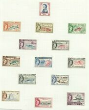 Turks & Caicos Islands 1957 Set of 14, hinged to page Sg 237-250, M/M {C/P 40}