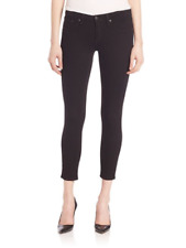 Rag & Bone Black Slim-Fit Skinny Jeans 25 Cropped Ankle