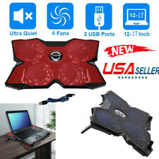 Laptop Cooling Pad 12-17 inch Gaming Laptop USB Fan Cooler with 4 Fans Dual USB