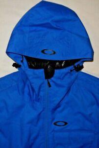 Mens EUC Blue OAKLEY Technical Snowboarding Ski Parka Jacket size S