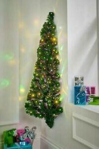 4ft Wall Hanging Half Christmas Tree Fibre Optic LED Lights