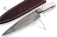 Custom Damascus steel BLADE KITCHEN KNIFE/CHEF KNIFE BONE handle