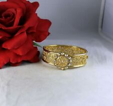 Vintage Aroura Borealis  Rhinestone Gold tone Crown   Bracelet   CAT RESCUE
