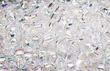 200 Rainbow Clear Matsuno # 6 Glass Seed Beads Jewelry Supply