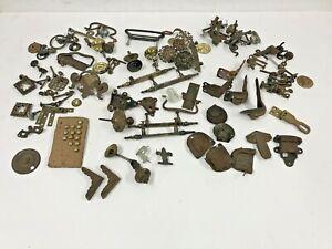 Vintage Hardware Lot drawer pull cabinet antique brass bracket knob trunk finial