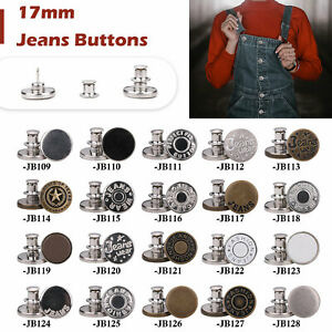 Metal Jeans Buttons Replacement Snap Button with Pins for Clothing Adjust Crafts