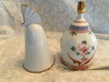 set of 2 bells Danbury Mint Noritake Japan plain white fan on top handle.