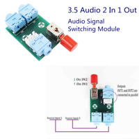 XH-M371 3.5 Audio 2 In 1 Out Switch Audio Socket Switch Signal Switching Module