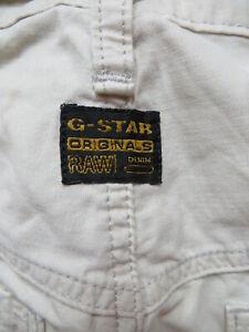 G-Star ELWOOD Herren Jeans Hose, W 32 / L 34, beige ! Vintage Stoffhose, KULT !