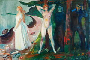 Edvard Munch Woman Poster Reproduction Paintings Giclee Canvas Print