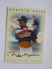 Minnesota Twins ROBERTO KELLY autographed 1996 Leaf Donruss Signature Series