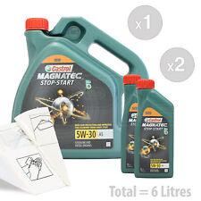 Car Engine Oil Service Kit / Pack 6 LITRES Castrol Magnatec 5W-30 A5 6L