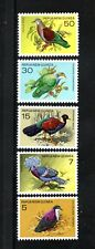 Papua New Guinea  1977 PROTECTED BIRDS PHEASANT PIGEON SG 333-337 SC 465-69  MLH