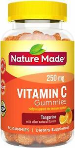Nature Made Vitamin C 250 mg Immune Support Antioxidant Gummies 80 ct Tangerine