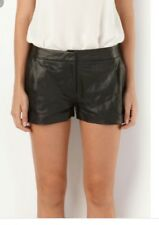 sass and bide size 10 black leather room service shorts